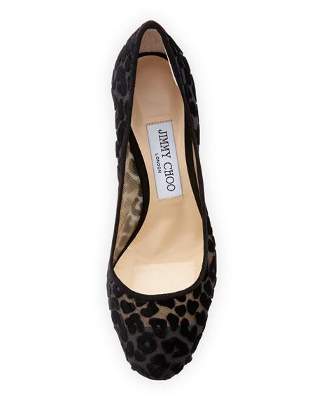 Bridget Leopard Devore Velvet Pump
