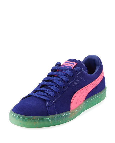 Puma x Sophia Webster Basket Suede Low-Top Sneaker