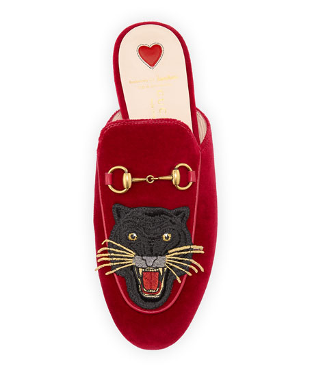 Princetown Velvet Angry Cat Mule