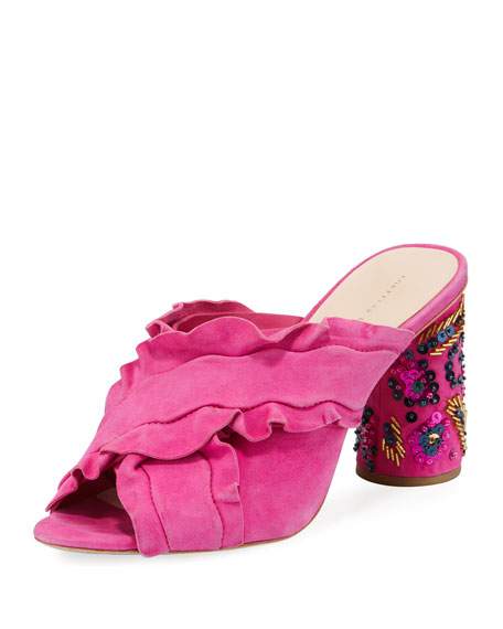 Loeffler Randall Kaya Embellished Slide Sandal