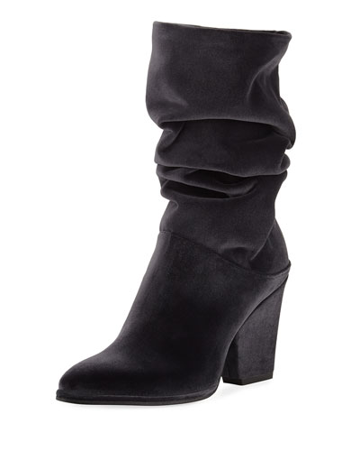 Crush Scrunch Velvet Ankle Boot