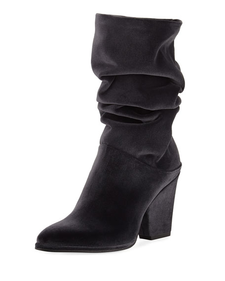 Stuart Weitzman Crush Scrunch Velvet Ankle Boot