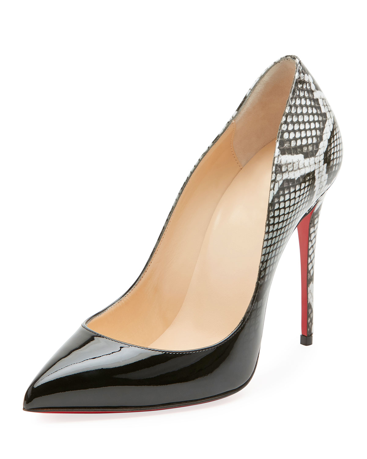 reputable site ea063 c8cfc Pigalle Follies Ombre Snake-Print Red Sole Pump