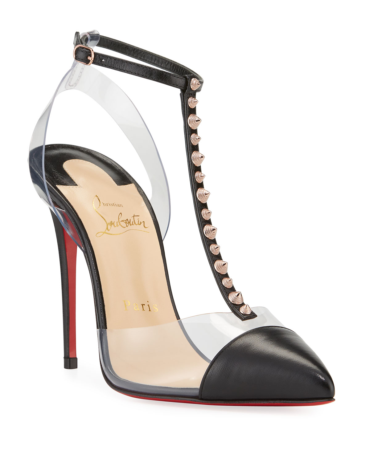 efa871fd64f Quick Look. Christian Louboutin · Nosy Spiked T-Strap Red Sole Pumps.  Available in Black