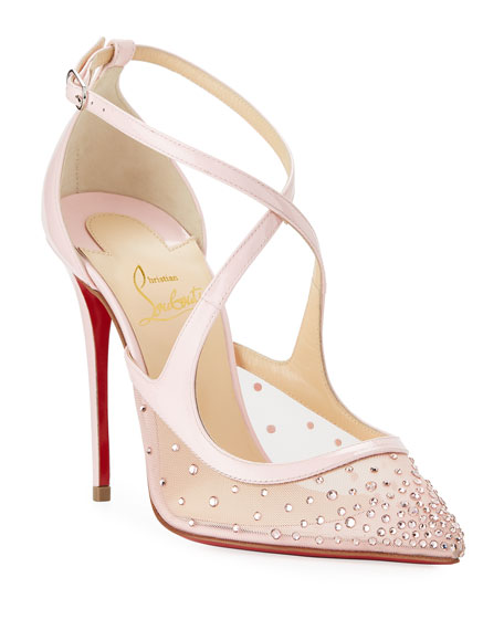 Image 1 of 5: Twistissima Crisscross Red Sole Pumps