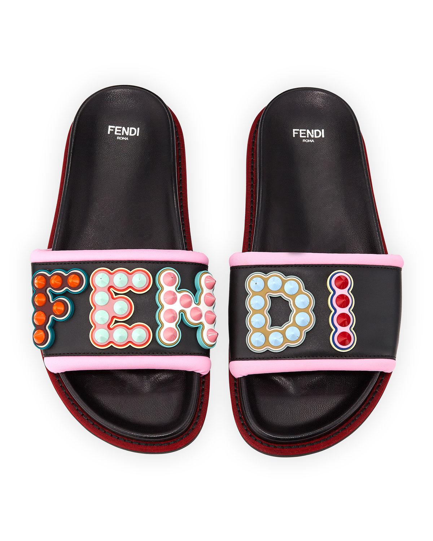 546f40136494 Fendi Fun Fair Flat Slide Sandal