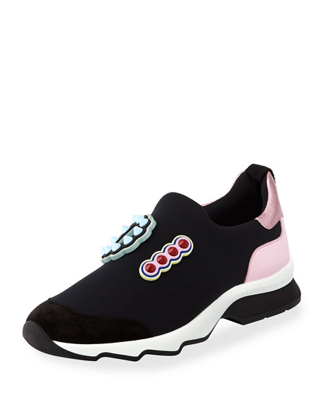 Fun Flair Slip-On Trainer, Black