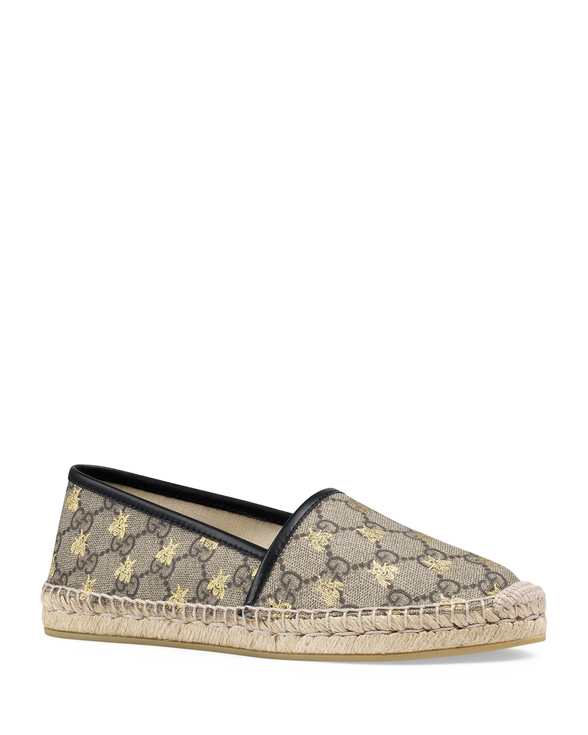 fdffaa14794 Gucci Flat Pilar GG Espadrille With Bees