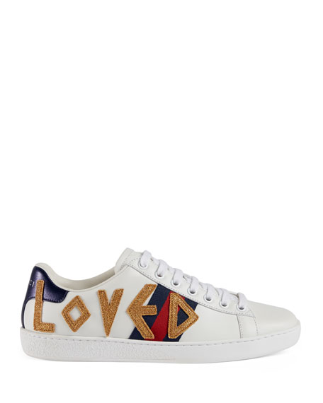 8fbac40c7a510 Image 3 of 5  Gucci New Ace  Loved  Leather Trainer