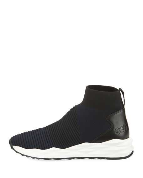 Spot Stretch-Sock High-Top Sneakers