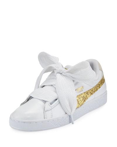 Basket Heart Glitter Sneaker
