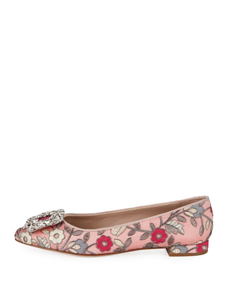 Fetching Ornament Ballet Flats, Rose