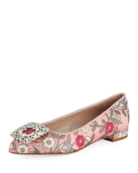 Stuart Weitzman Fetching Ornament Ballerina Flat, Rose