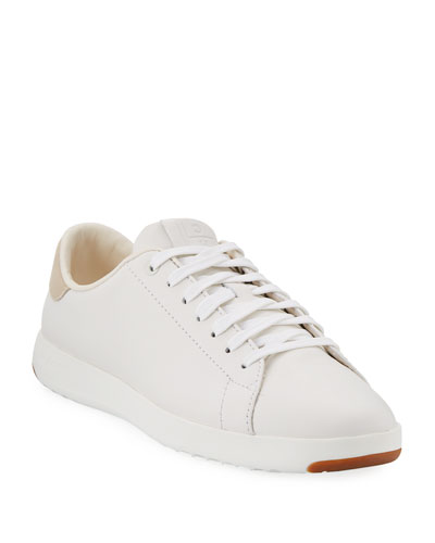 GrandPro Leather Tennis Sneakers  Optic White