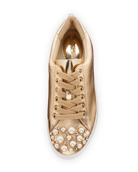 Poppy Embellished Metallic Sneaker