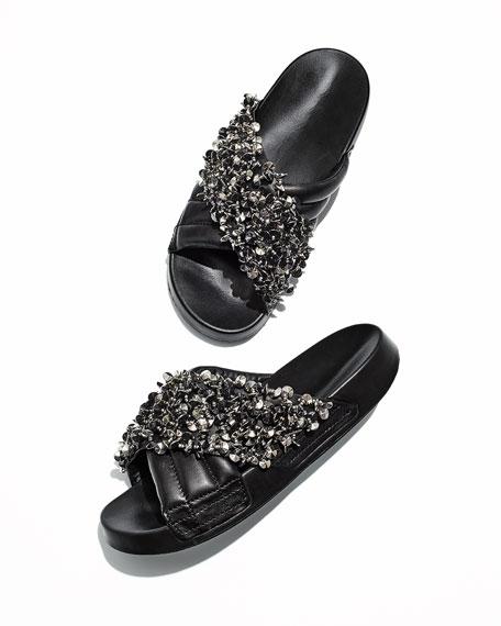 Logan Embellished Pool Sandals