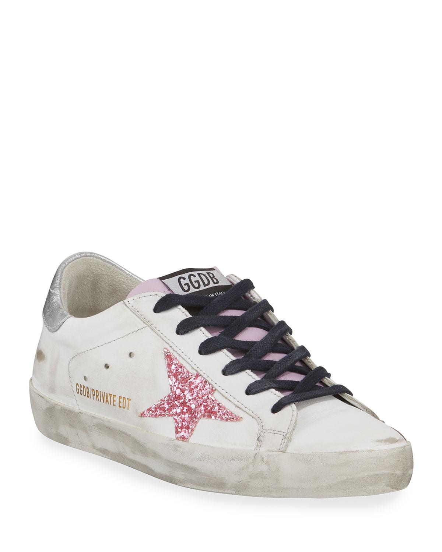 6bb06235bfeda Golden Goose Superstar Glitter Platform Sneakers