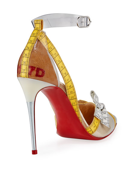Metripump Measuring Tape Patent Red Sole Pumps