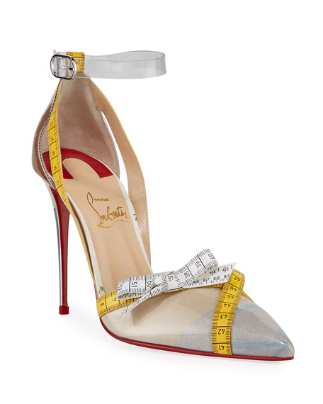Christian Louboutin Metripump Measuring Tape Patent Red Sole