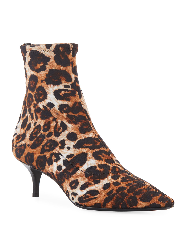 9bcb2370a9941 Giuseppe Zanotti Leopard-Print Neoprene Booties   Neiman Marcus