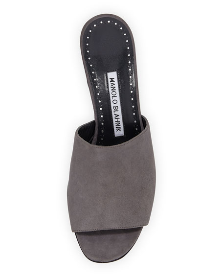 Rapallato Suede Slide Sandals