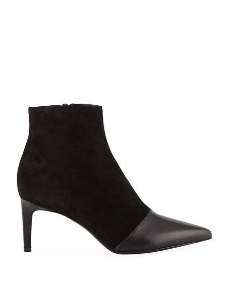 Beha Mixed Leather & Suede Zip-Up Booties