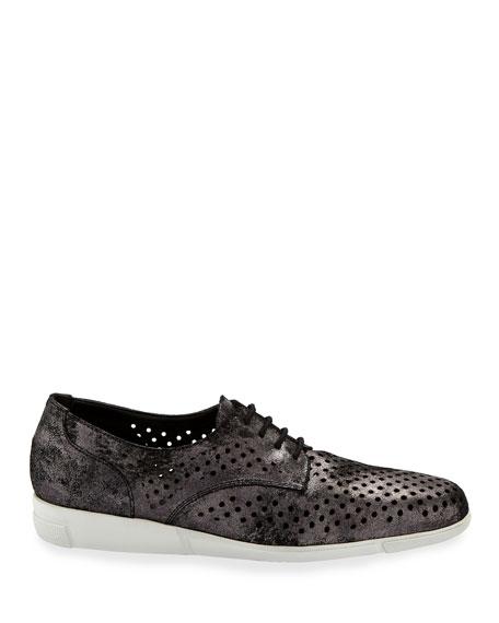 Sesto Meucci Dira Perforated Lace-Up Sneakers, Black