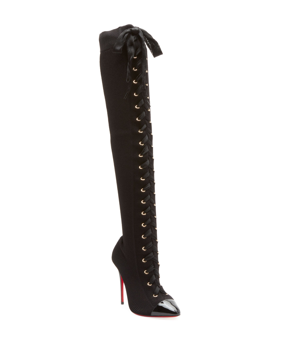 e945ed77288 Christian Louboutin Frenchie Over-The-Knee Red Sole Boots