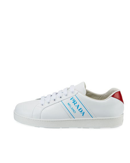 Blue Logo Platform Low-Top Sneakers