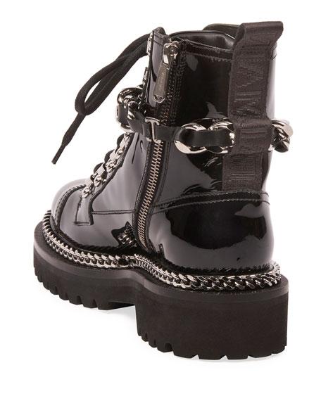 Balmain Combat Army Chain Boot