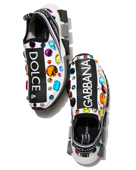 Slip-On Jeweled Trainer Sneaker