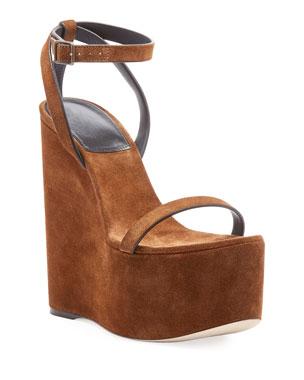 988afac676f Saint Laurent Debbie Wrapped Platform Sandal from Neiman Marcus ...