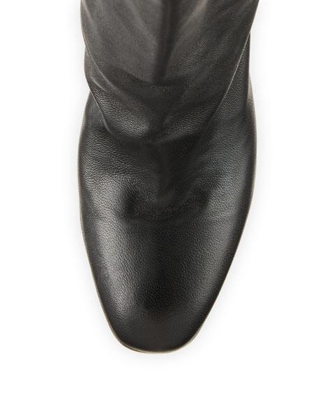 Aquazzura Boogie Scrunch Leather Booties