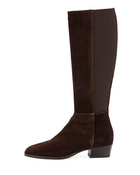Aquatalia Finola Flat Suede Knee Boots
