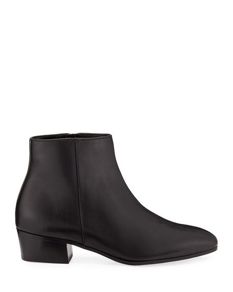 Image 3 of 4: Aquatalia Fuoco Leather Ankle Boots