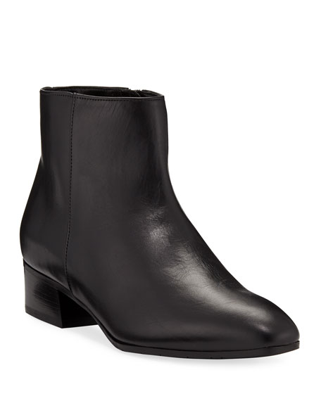 Image 1 of 4: Aquatalia Fuoco Leather Ankle Boots