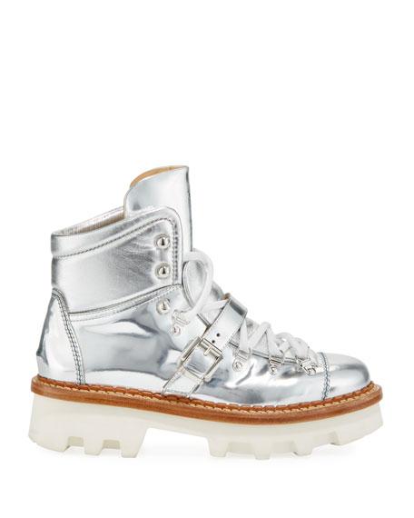 Moncler Amboise Scarpa Metallic Boots