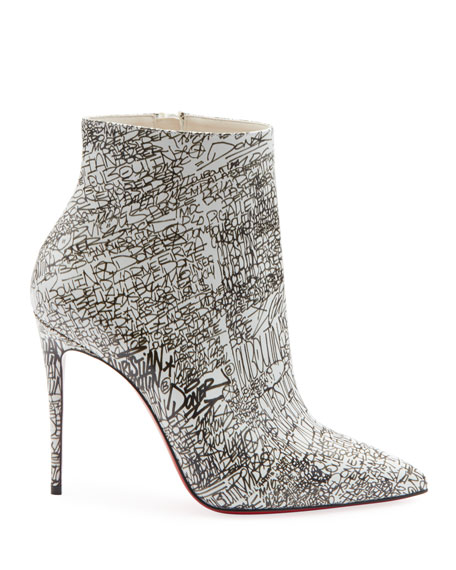 Image 3 of 3: So Kate 100 Calf Caligraf Red Sole Booties