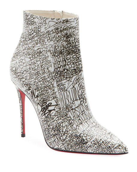 Image 1 of 3: So Kate 100 Calf Caligraf Red Sole Booties
