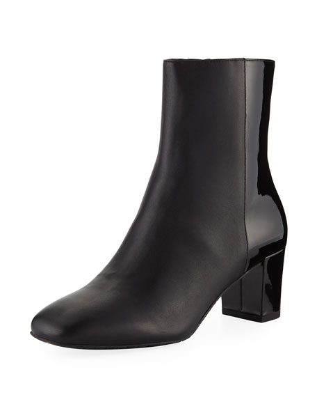 Donald J Pliner JIA LEATHER/PATENT BOOTIES