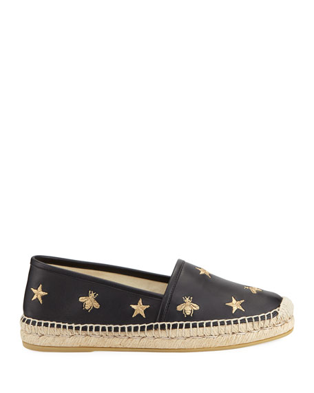 Gucci Star and Bees Flat Espadrilles