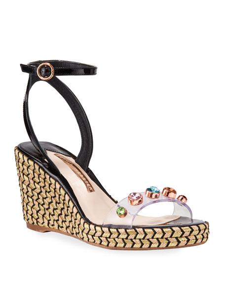 Sophia Webster Dina Gem Mid Espadrille Sandals