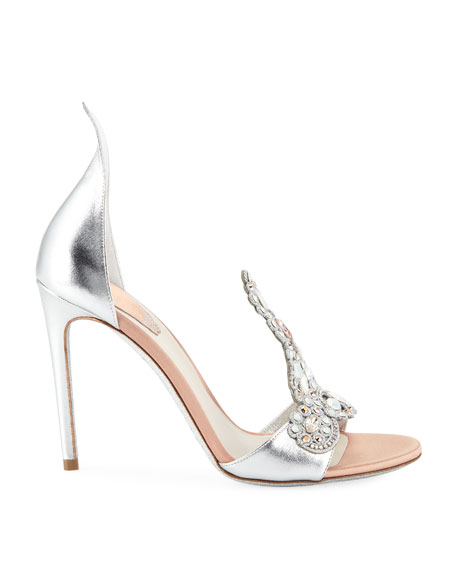 Image 2 of 3: Embroidered Crystal Metallic Pumps