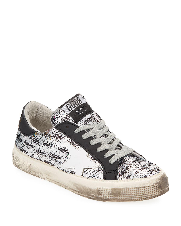 4577e18444735 Golden Goose May Rainbow Sequin Star Sneakers | Neiman Marcus