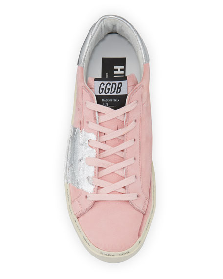 Image 3 of 3: Golden Goose Hi Star Metallic-Trim Leather Sneakers