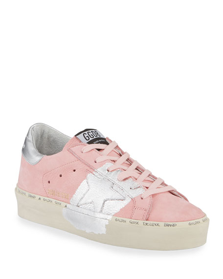Image 1 of 3: Golden Goose Hi Star Metallic-Trim Leather Sneakers