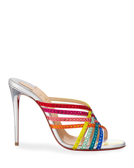 Christian Louboutin Marthastrass 100 Red Sole Slide Sandals