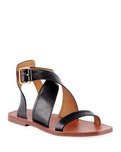 Virginia Flat Strappy Sandals