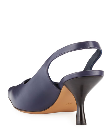 THE ROW Bourgeoisie Leather Slingback Pumps