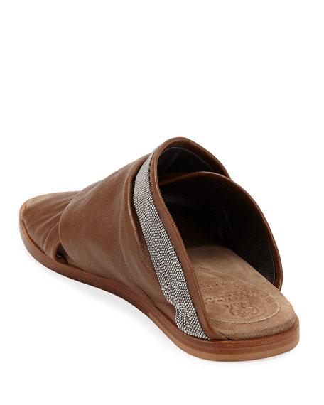 Brunello Cucinelli Leather Crisscross Sandals